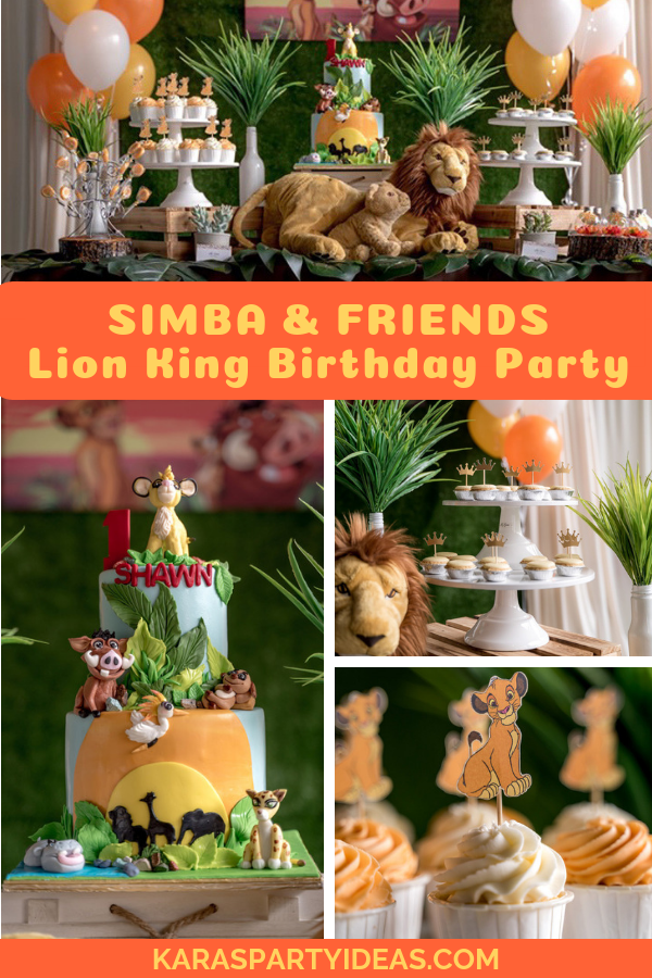 Simba & Friends Lion King Birthday Party via Kara's Party Ideas - KarasPartyIdeas.com