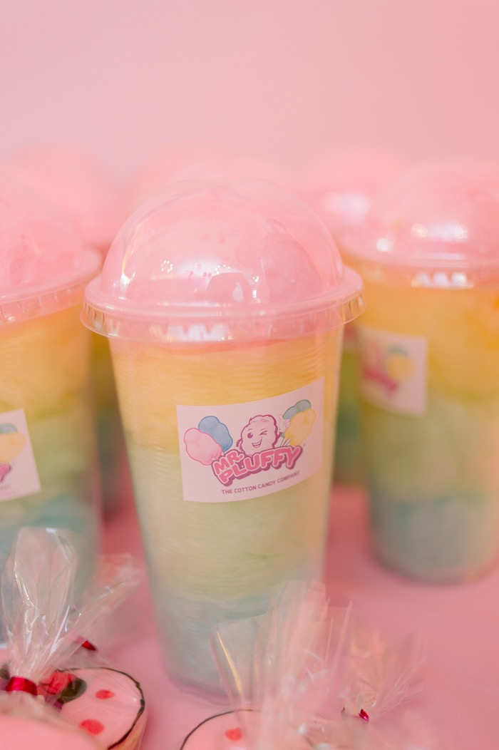 Rainbow Cotton Candy Cups from a Spa Day Birthday Party on Kara's Party Ideas | KarasPartyIdeas.com (18)