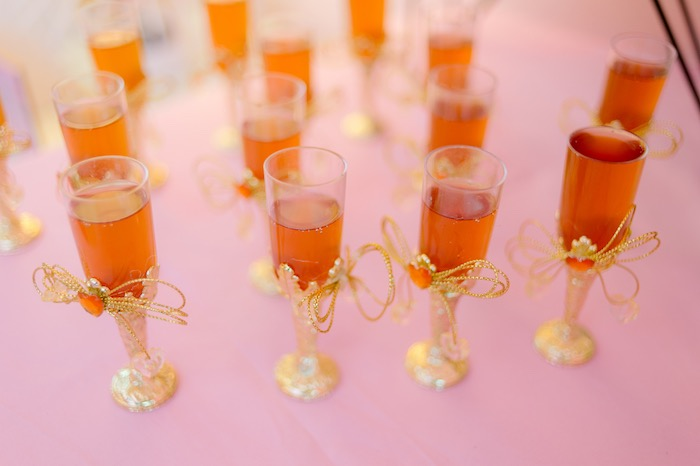 Jeweled Drinking Glasses from a Spa Day Birthday Party on Kara's Party Ideas | KarasPartyIdeas.com (17)