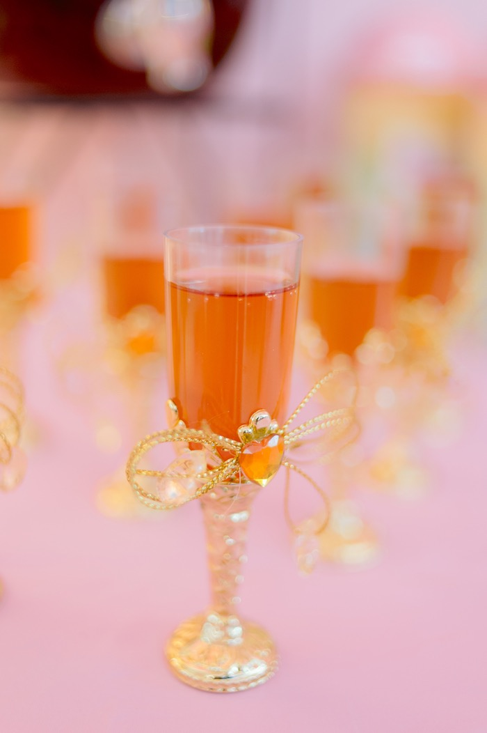 Jeweled Drinking Glass from a Spa Day Birthday Party on Kara's Party Ideas | KarasPartyIdeas.com (16)