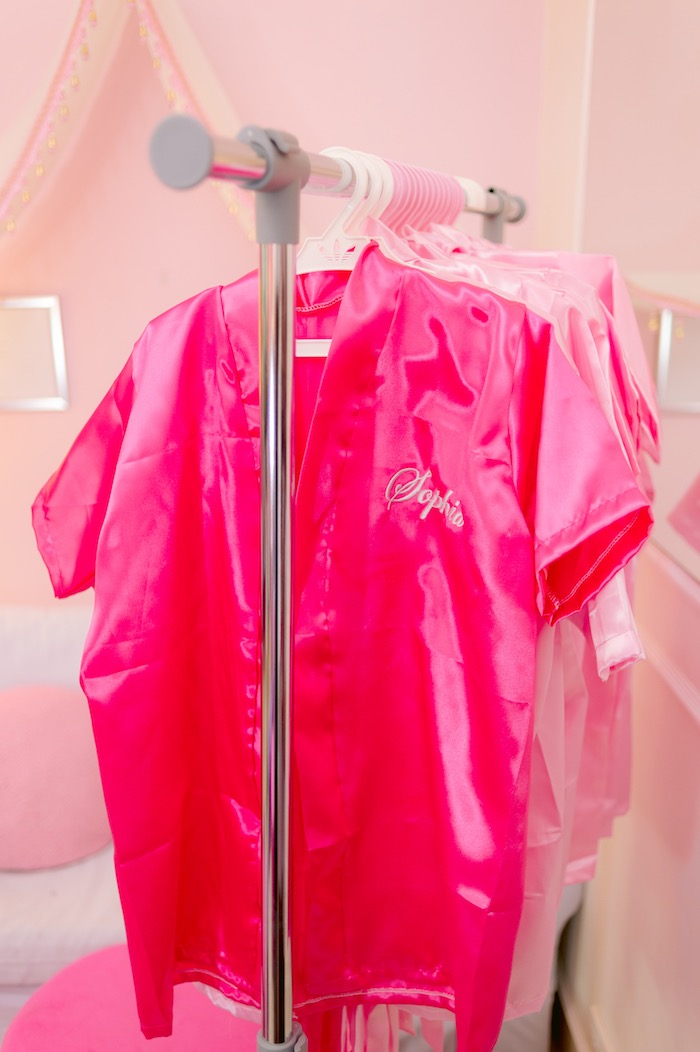 Personalized Spa Robes from a Spa Day Birthday Party on Kara's Party Ideas | KarasPartyIdeas.com (15)