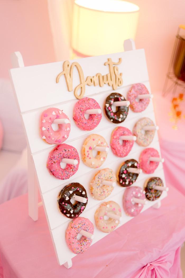 Donut Board from a Spa Day Birthday Party on Kara's Party Ideas | KarasPartyIdeas.com (25)