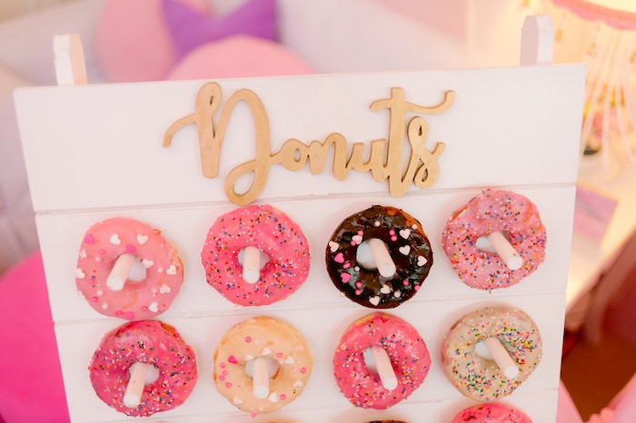 Donut Board from a Spa Day Birthday Party on Kara's Party Ideas | KarasPartyIdeas.com (24)