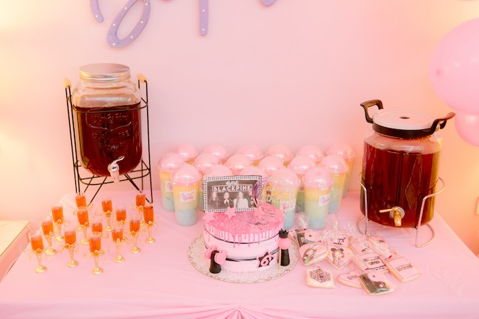 Pink Sweet Table from a Spa Day Birthday Party on Kara's Party Ideas | KarasPartyIdeas.com (22)