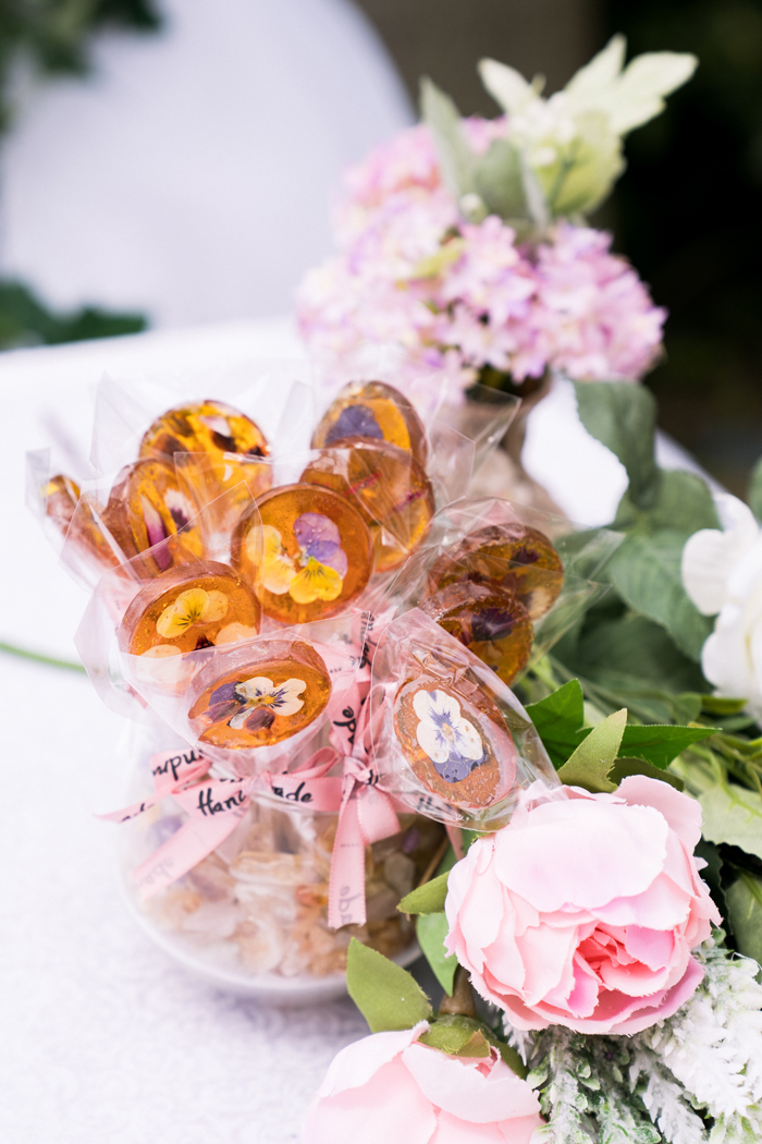 Fresh Flower Lollipops from a Spring Woodland Little Deer Birthday Party on Kara's Party Ideas | KarasPartyIdeas.com (18)