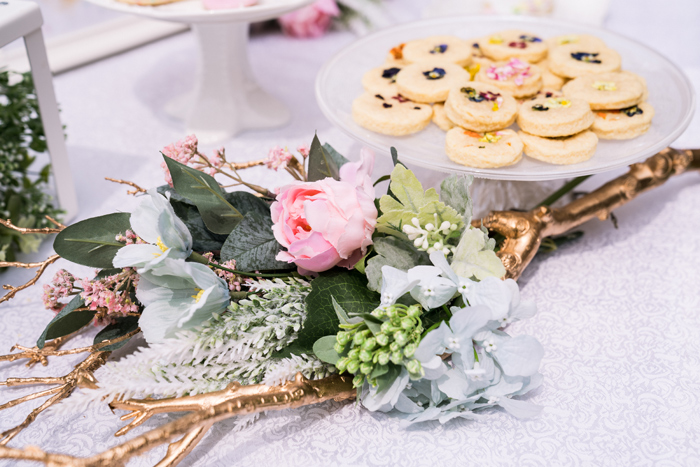 Gold Antler Floral Arrangement from a Spring Woodland Little Deer Birthday Party on Kara's Party Ideas | KarasPartyIdeas.com (17)