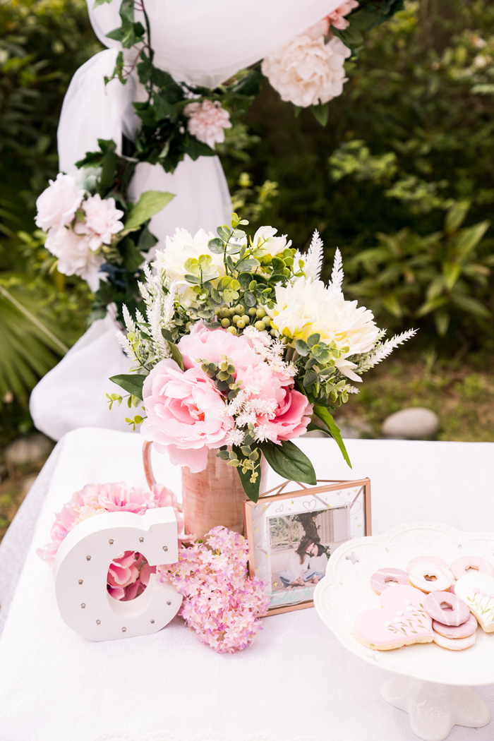 Spring Blooms + Decor from a Spring Woodland Little Deer Birthday Party on Kara's Party Ideas | KarasPartyIdeas.com (13)