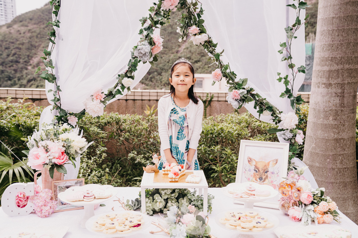 Garden Themed Dessert Table from a Spring Woodland Little Deer Birthday Party on Kara's Party Ideas | KarasPartyIdeas.com (9)