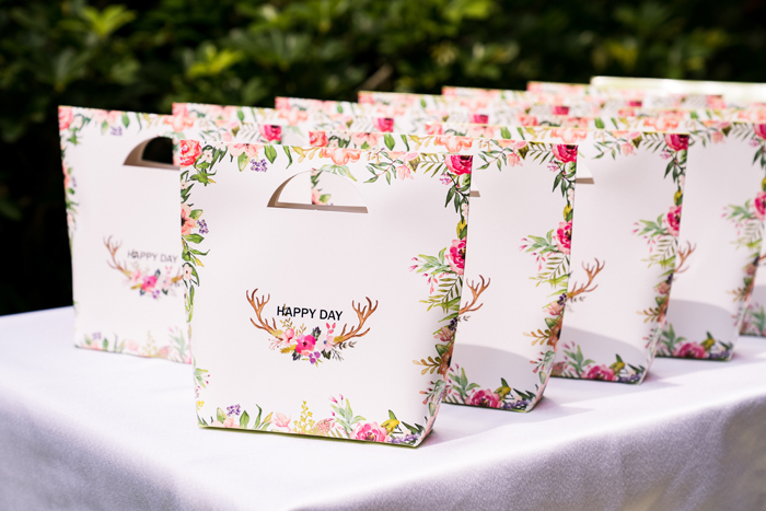 Floral Antler Favor Bags from a Spring Woodland Little Deer Birthday Party on Kara's Party Ideas | KarasPartyIdeas.com (26)