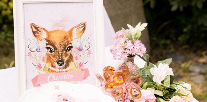 Spring Woodland Little Deer Birthday Party on Kara's Party Ideas | KarasPartyIdeas.com (1)