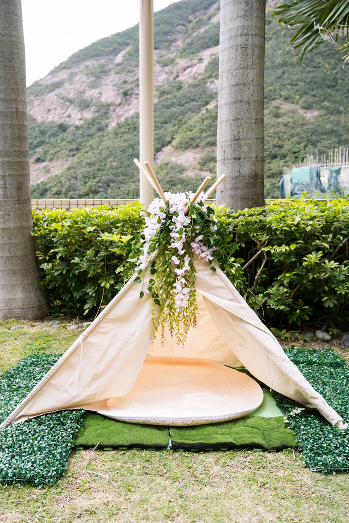 Garden Teepee from a Spring Woodland Little Deer Birthday Party on Kara's Party Ideas | KarasPartyIdeas.com (25)