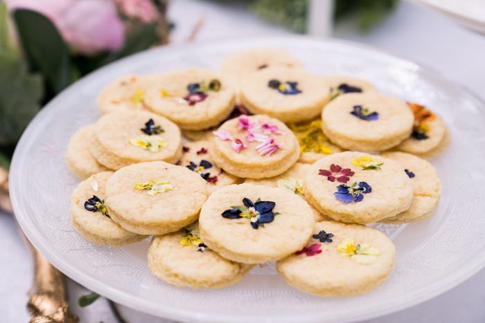 Flower-pressed Cookies from a Spring Woodland Little Deer Birthday Party on Kara's Party Ideas | KarasPartyIdeas.com (24)