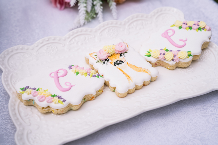 Floral Fawn+ Garden Cookies from a Spring Woodland Little Deer Birthday Party on Kara's Party Ideas | KarasPartyIdeas.com (22)