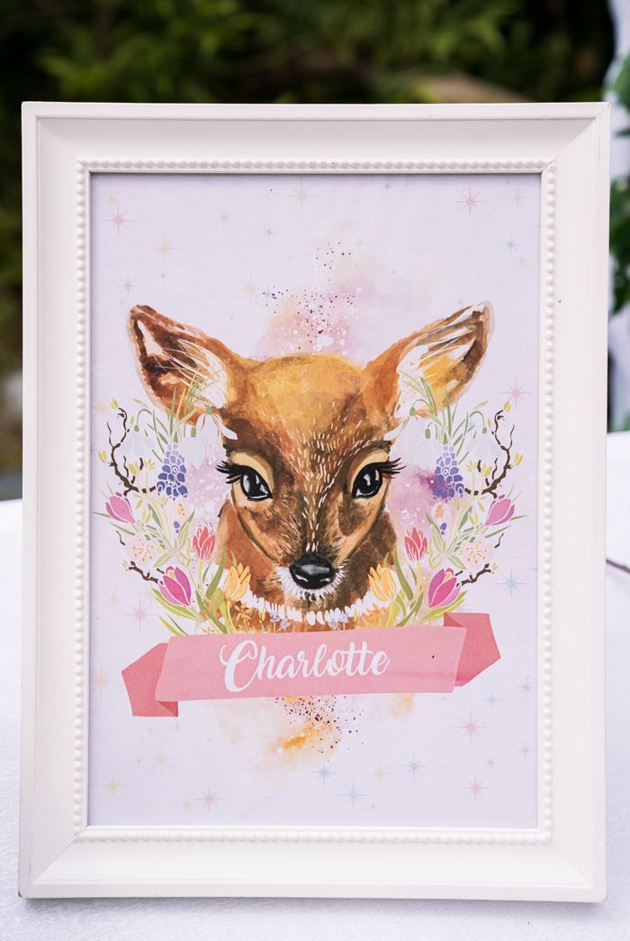 Customized Deer/Fawn Print from a Spring Woodland Little Deer Birthday Party on Kara's Party Ideas | KarasPartyIdeas.com (19)