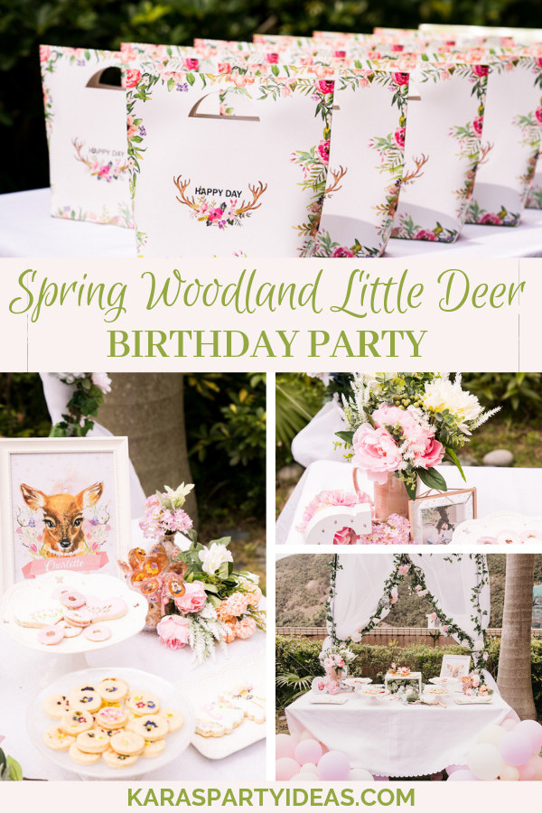 Spring Woodland Little Deer Birthday Party via Kara's Party Ideas - KarasPartyIdeas.com