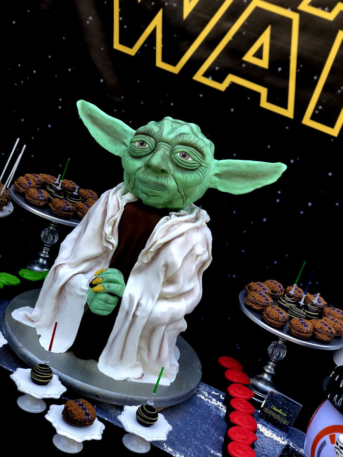 Master Yoda Cake from a Star Wars Birthday Party on Kara's Party Ideas | KarasPartyIdeas.com (11)