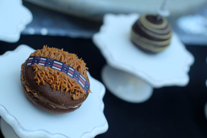 Chewbacca Macaron from a Star Wars Birthday Party on Kara's Party Ideas | KarasPartyIdeas.com (9)