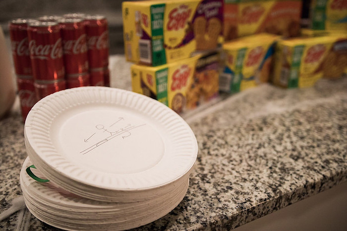 Paper Plates from a Stranger Things Viewing Party on Kara's Party Ideas | KarasPartyIdeas.com (7)