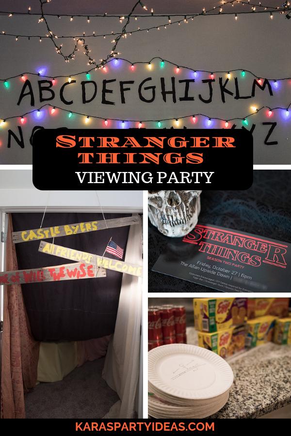 Stranger Things Viewing Party via Kara's Party Ideas - KarasPartyIdeas.com