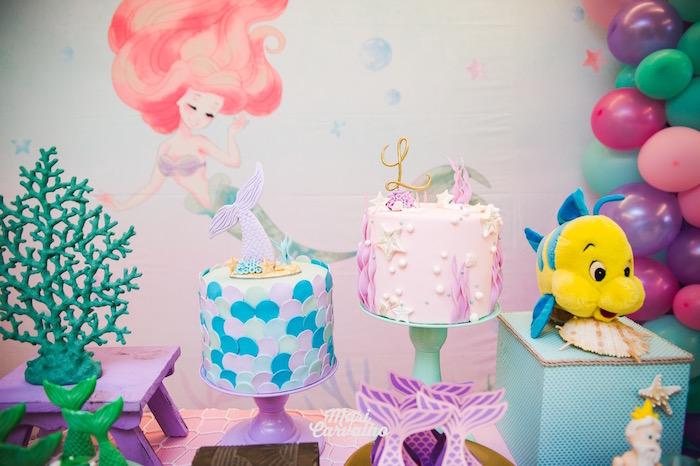 Under the Sea Cakes from The Little Mermaid Birthday Party on Kara's Party Ideas | KarasPartyIdeas.com (21)