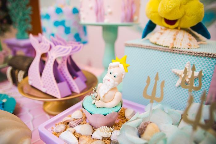 King Triton Cupcake from The Little Mermaid Birthday Party on Kara's Party Ideas | KarasPartyIdeas.com (19)