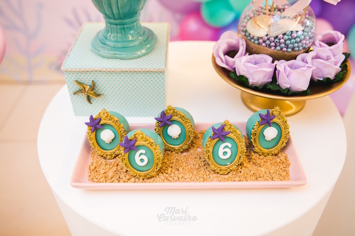 Under the Sea Cameo Cake Balls from The Little Mermaid Birthday Party on Kara's Party Ideas | KarasPartyIdeas.com (17)