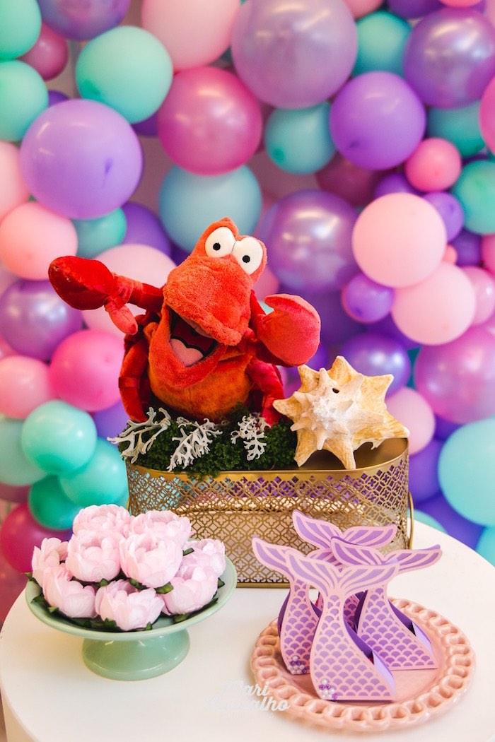 Sebastian's Dessert Table from The Little Mermaid Birthday Party on Kara's Party Ideas | KarasPartyIdeas.com (15)