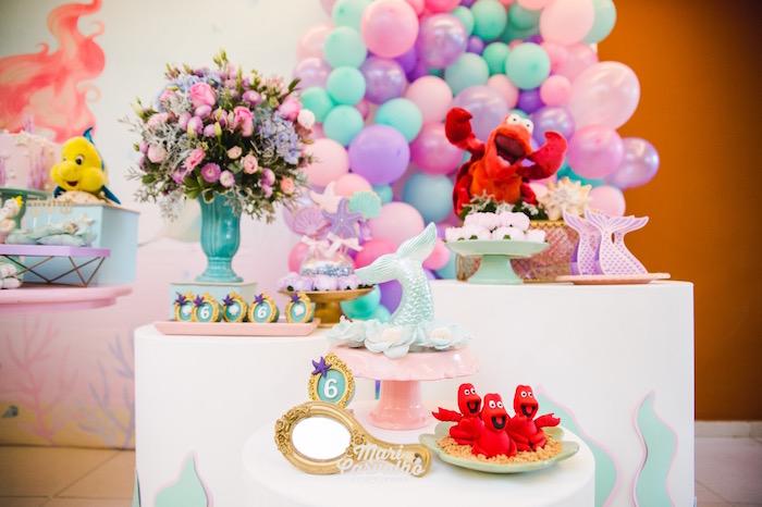 Sweet Tables from The Little Mermaid Birthday Party on Kara's Party Ideas | KarasPartyIdeas.com (13)