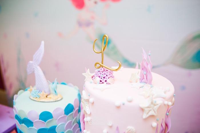 Under the Sea Cakes from The Little Mermaid Birthday Party on Kara's Party Ideas | KarasPartyIdeas.com (30)