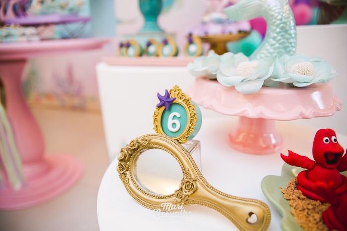 Mirror Prop from The Little Mermaid Birthday Party on Kara's Party Ideas | KarasPartyIdeas.com (11)