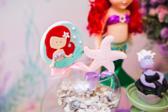 Ariel's Under the Sea Cookie Pops from The Little Mermaid Birthday Party on Kara's Party Ideas | KarasPartyIdeas.com (7)