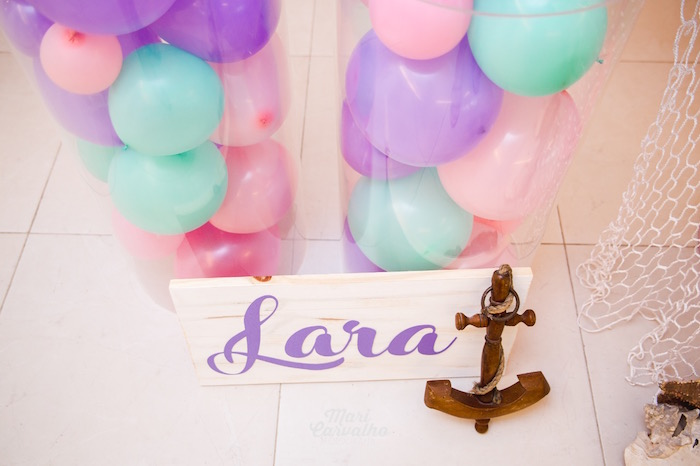 Anchor + Signage from The Little Mermaid Birthday Party on Kara's Party Ideas | KarasPartyIdeas.com (6)