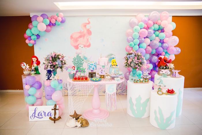 The Little Mermaid Birthday Party on Kara's Party Ideas | KarasPartyIdeas.com (4)