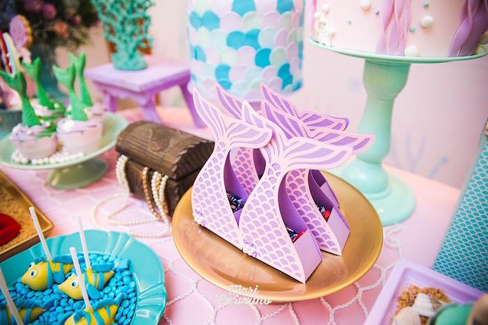 Mermaid Fin Favor Boxes from The Little Mermaid Birthday Party on Kara's Party Ideas | KarasPartyIdeas.com (29)