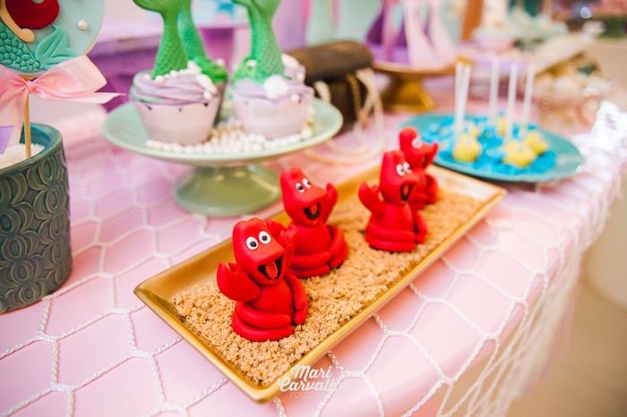 Sebastian Cakes from The Little Mermaid Birthday Party on Kara's Party Ideas | KarasPartyIdeas.com (24)
