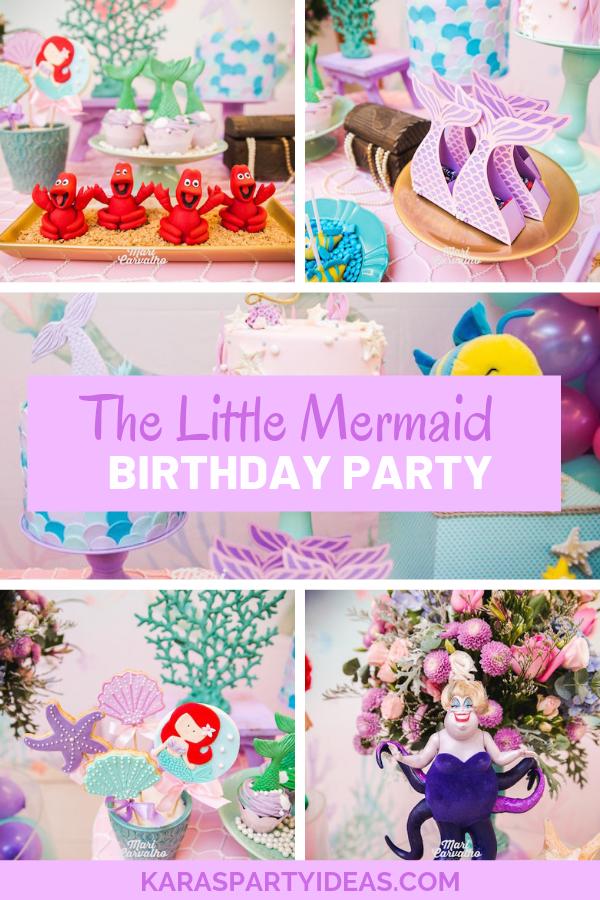 The Little Mermaid Birthday Party via Kara's Party Ideas - KarasPartyIdeas.com