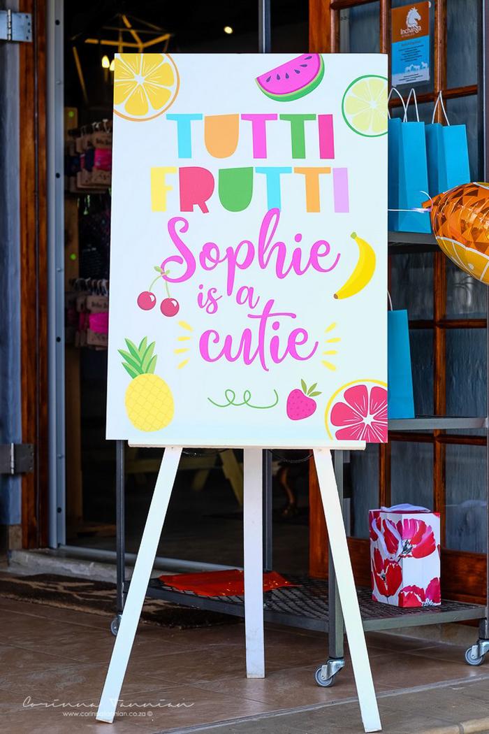 Tutti Frutti Party Signage from a Tutti Fruitti Birthday Party on Kara's Party Ideas | KarasPartyIdeas.com (27)