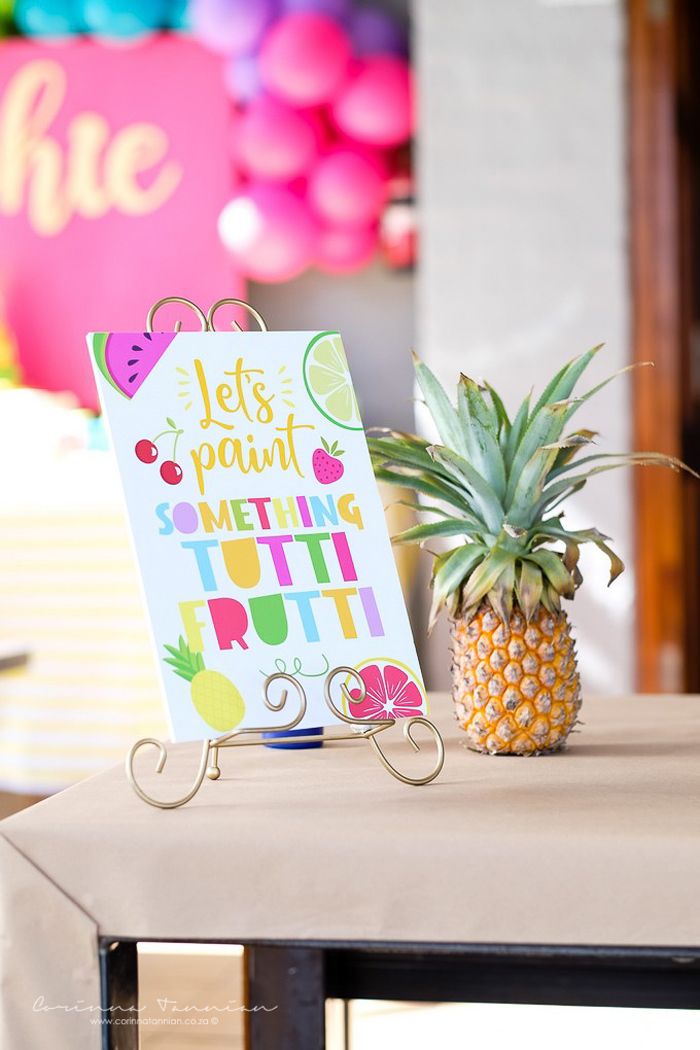 Tutti Frutti Party Signage from a Tutti Fruitti Birthday Party on Kara's Party Ideas | KarasPartyIdeas.com (25)