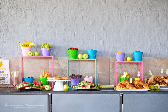 Modern Fruit-inspired Food Table from a Tutti Fruitti Birthday Party on Kara's Party Ideas | KarasPartyIdeas.com (23)
