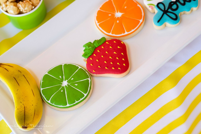 ADORABLE Fruit-shaped Sugar Cookies from a Tutti Fruitti Birthday Party on Kara's Party Ideas | KarasPartyIdeas.com (19)
