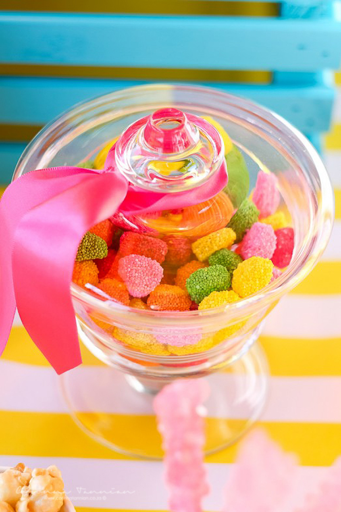 Fruit-inspired Gummy Jar from a Tutti Fruitti Birthday Party on Kara's Party Ideas | KarasPartyIdeas.com (17)