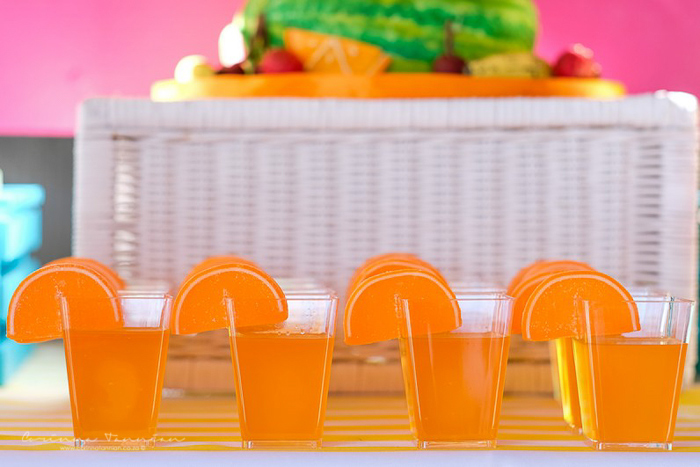 Orange Slice Jello Cups from a Tutti Fruitti Birthday Party on Kara's Party Ideas | KarasPartyIdeas.com (11)