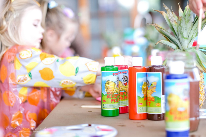 Paint Bottles from a Tutti Fruitti Birthday Party on Kara's Party Ideas | KarasPartyIdeas.com (9)