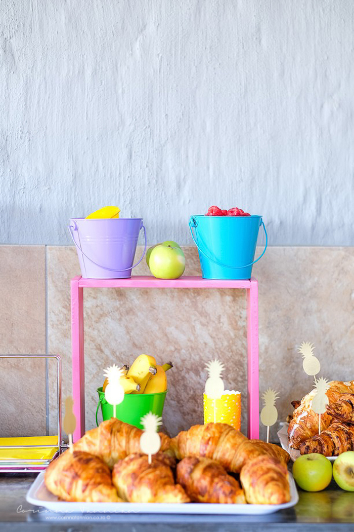 Colorful Fruit-filled Buckets from a Tutti Fruitti Birthday Party on Kara's Party Ideas | KarasPartyIdeas.com (36)