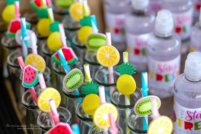 Fruit Themed Straws from a Tutti Fruitti Birthday Party on Kara's Party Ideas | KarasPartyIdeas.com (33)