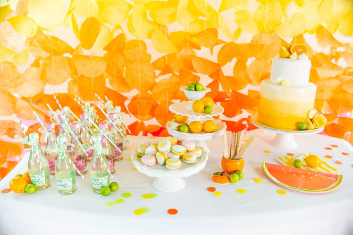 Fruit-inspired Dessert Table from a Tutti Frutti Color Pop Party on Kara's Party Ideas | KarasPartyIdeas.com (14)