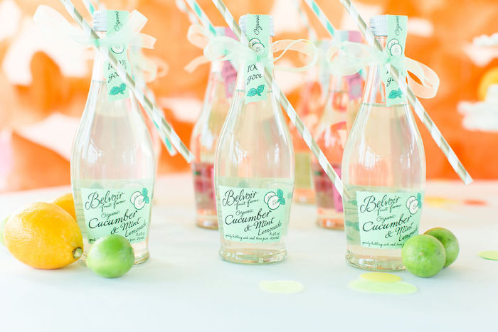 Cucumber & Mint Lemonade from a Tutti Frutti Color Pop Party on Kara's Party Ideas | KarasPartyIdeas.com (22)