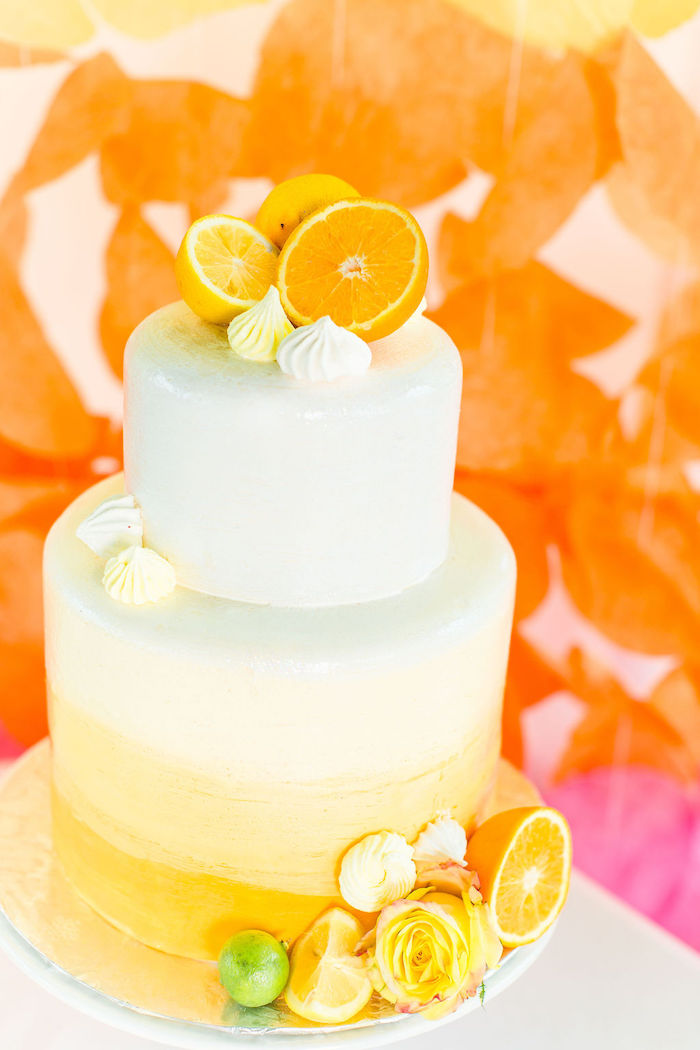 Orange Slice Cake from a Tutti Frutti Color Pop Party on Kara's Party Ideas | KarasPartyIdeas.com (18)
