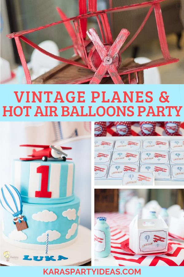 Vintage Planes and Hot Air Balloons Party via Kara's Party Ideas - KarasPartyIdeas.com