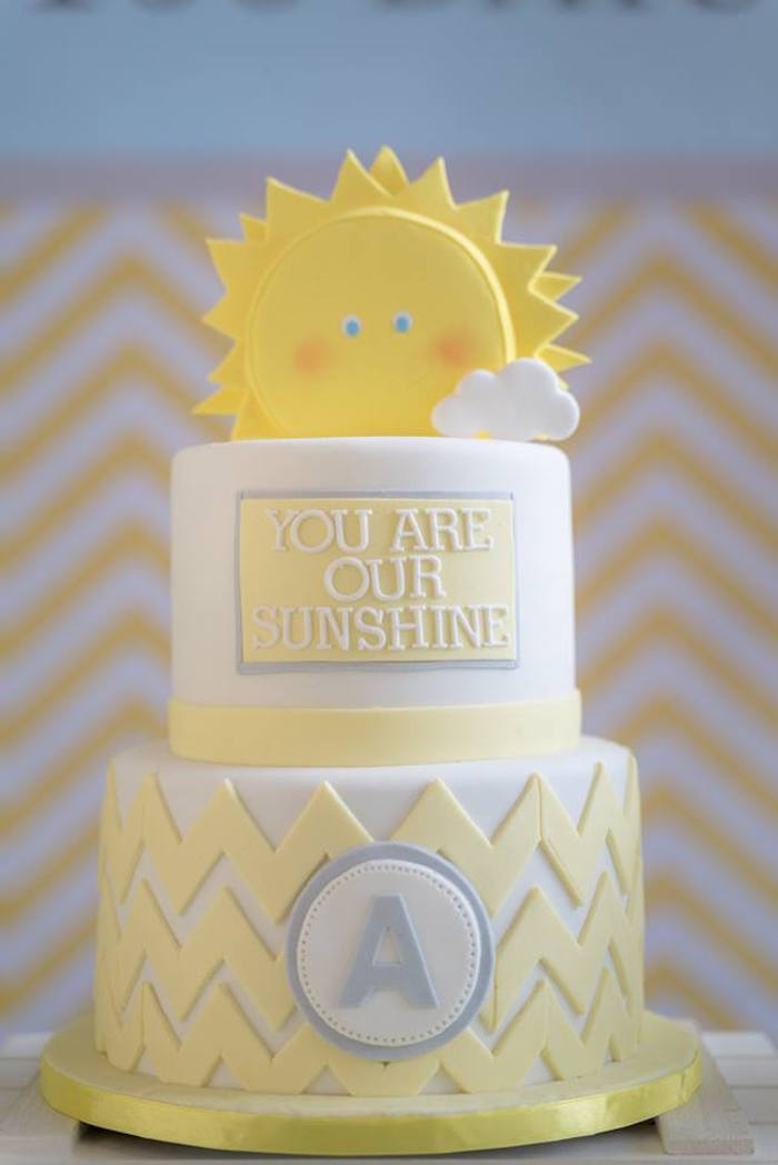 You Are My Sunshine Cake from a You are my Sunshine 100 Days Party on Kara's Party Ideas | KarasPartyIdeas.com (8)
